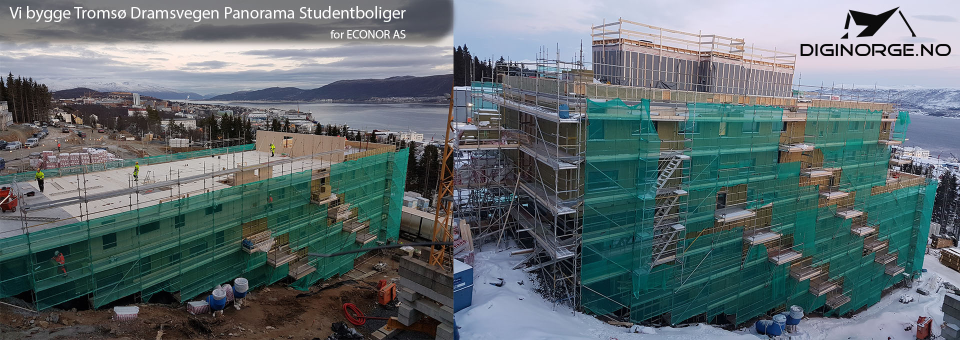 Vi bygge Dramsvegen Panorama Studentboliger i Tromsø (for ECONOR AS)